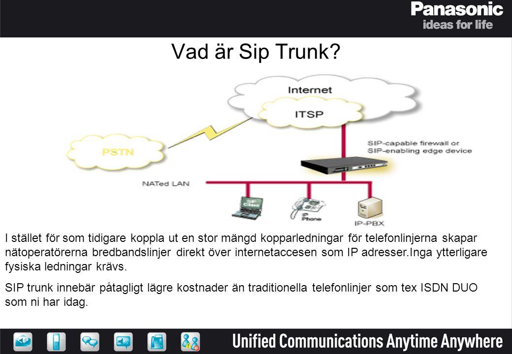 Vad är Sip Trunk? I stället för som tidigare koppla ut en stor mängd kopparledningar för telefonlinjerna skapar nätoperatörerna bredbandslinjer direkt