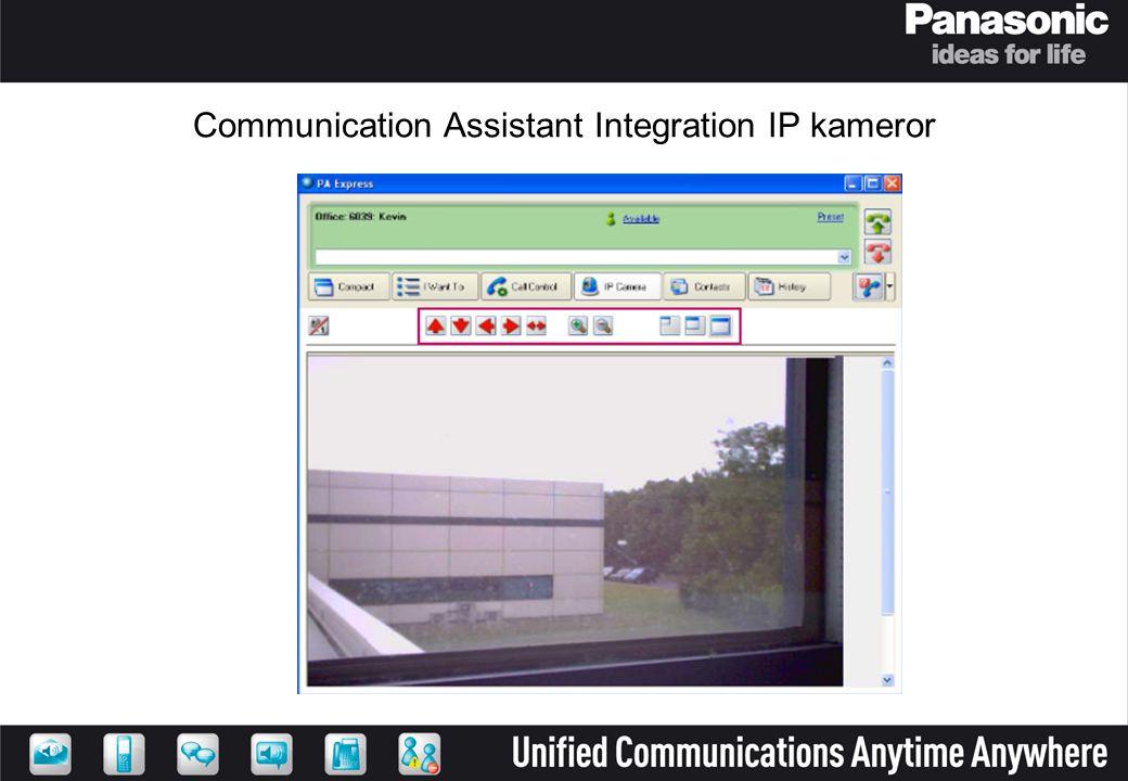 Communication Assistant Integration IP kameror