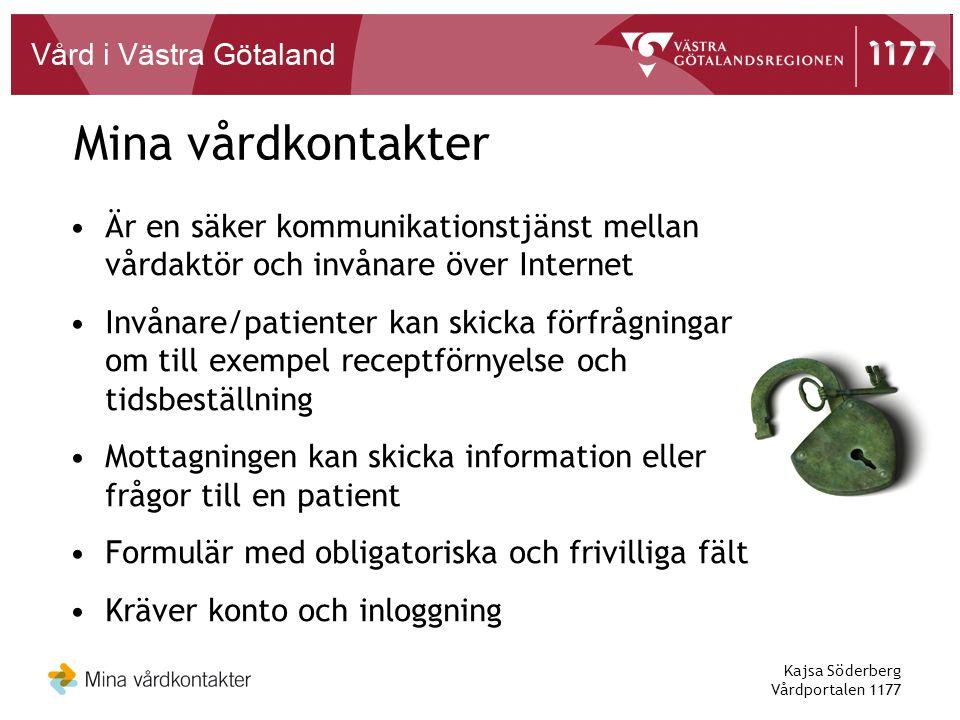Kajsa Söderberg Vårdportalen 1177