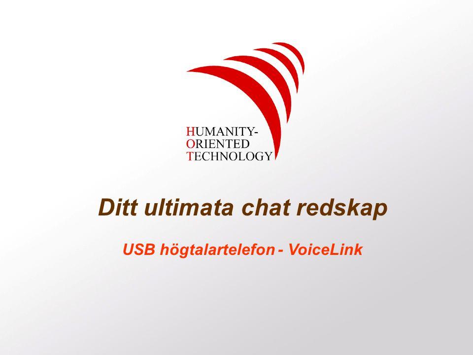 Ditt ultimata chat redskap USB högtalartelefon - VoiceLink