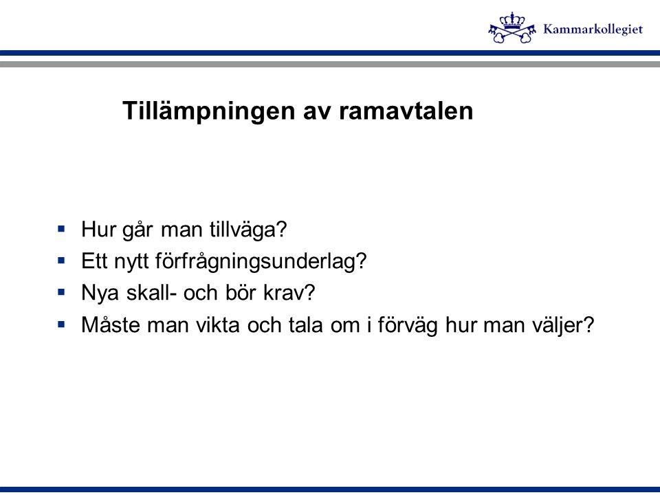 Ramavtalsleverantörer Leverantör TelefonerKommunikationsutrustning 1.
