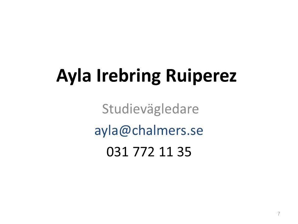 SVL Frågor .Studieuppehåll / avbrott Studieuppföljning / Studieplanering Problem .