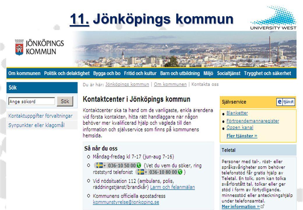 www.hv.se 11. Jönköpings kommun