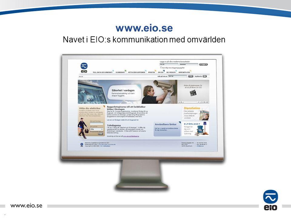 7 www.eio.se Navet i EIO:s kommunikation med omvärlden