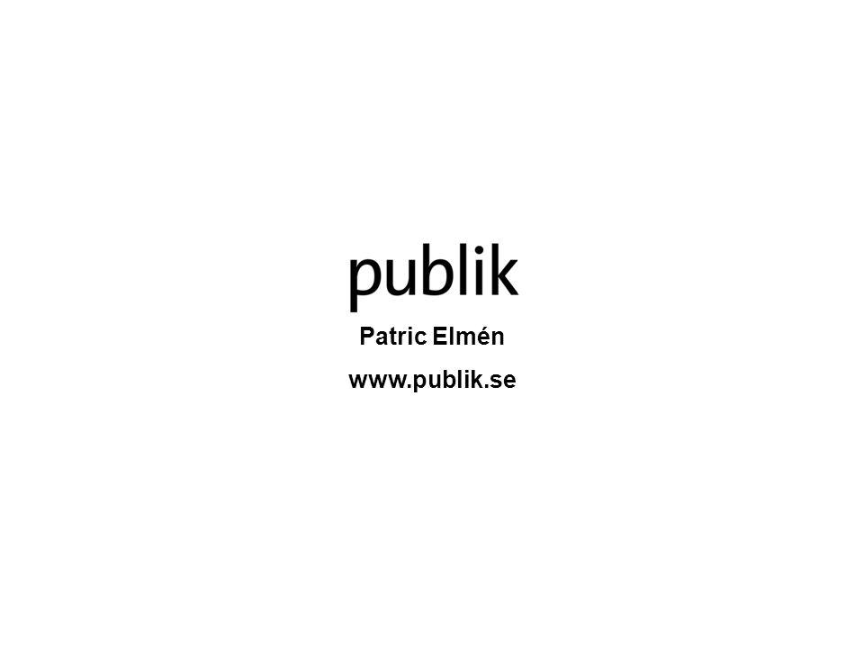 Patric Elmén www.publik.se