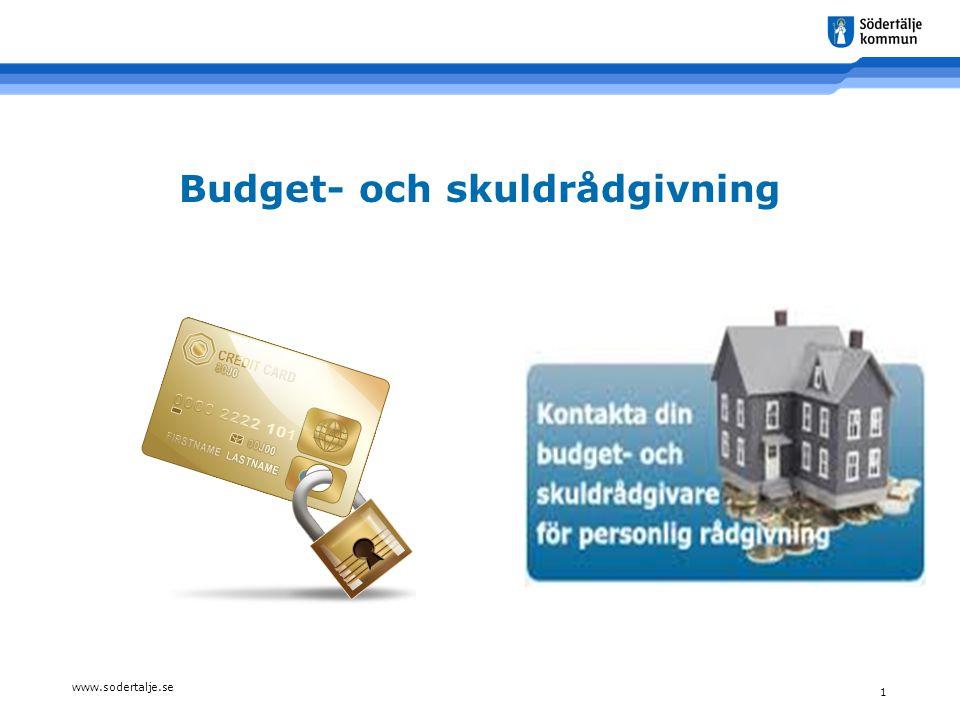 www.sodertalje.se 1 Budget- och skuldrådgivning