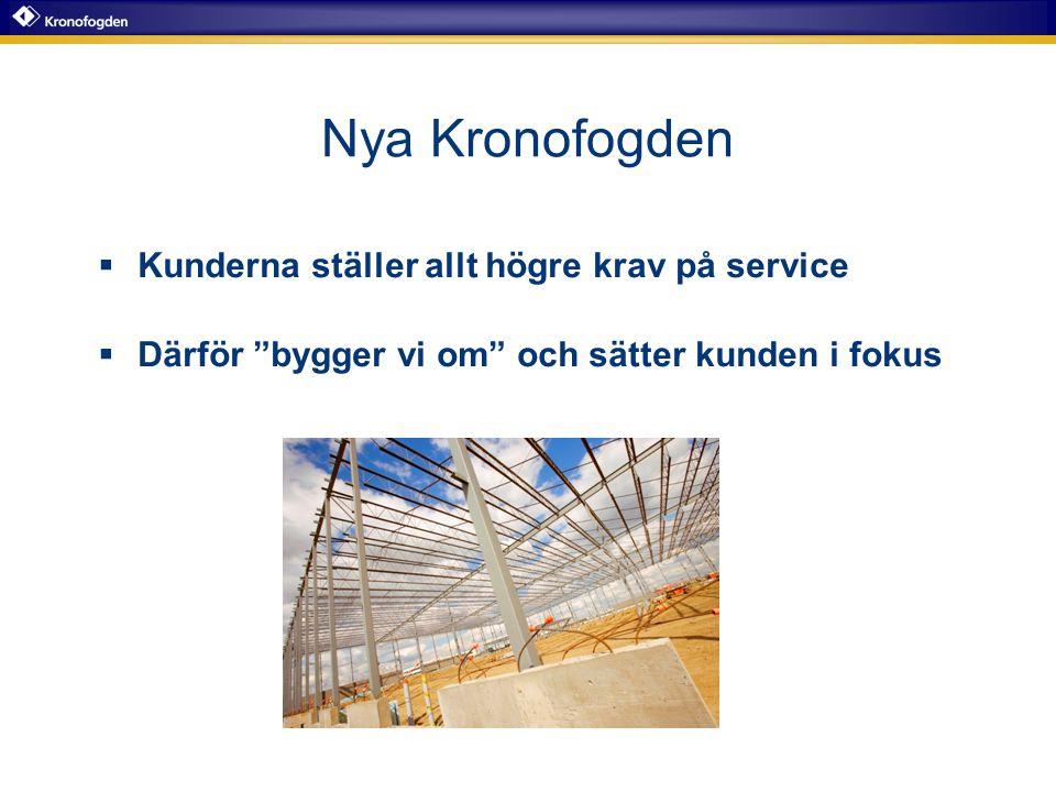 """Nya Kronofogden  Kunderna ställer allt högre krav på service  Därför """"bygger vi om"""" och sätter kunden i fokus"""