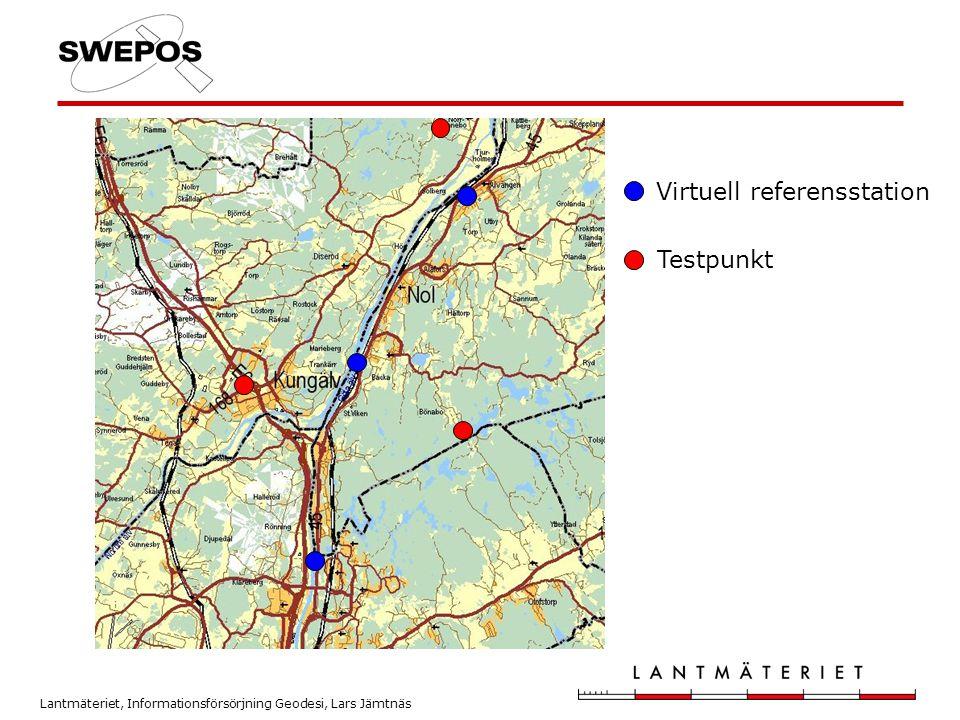 Lantmäteriet, Informationsförsörjning Geodesi, Lars Jämtnäs Virtuell referensstation Testpunkt