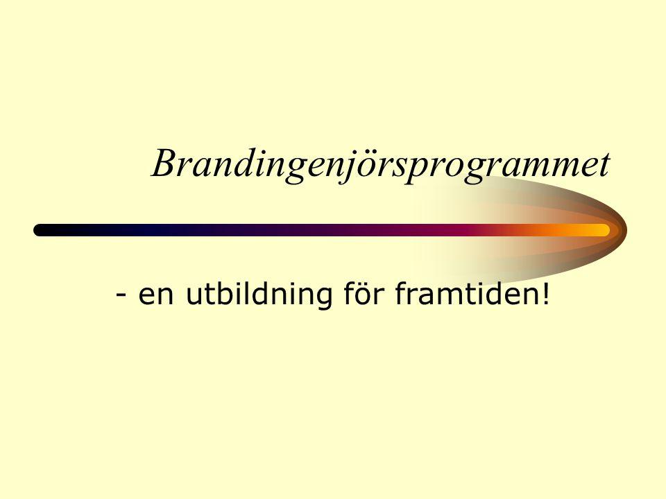 Brandingenjörsprogrammet - en utbildning för framtiden!
