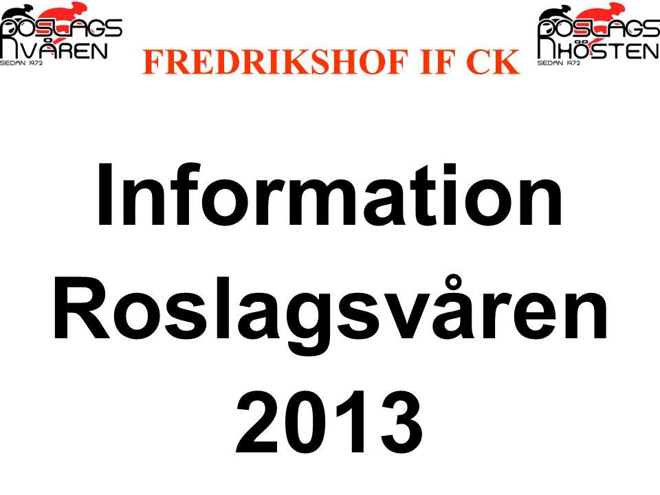 FREDRIKSHOF IF CK Information Roslagsvåren 2013