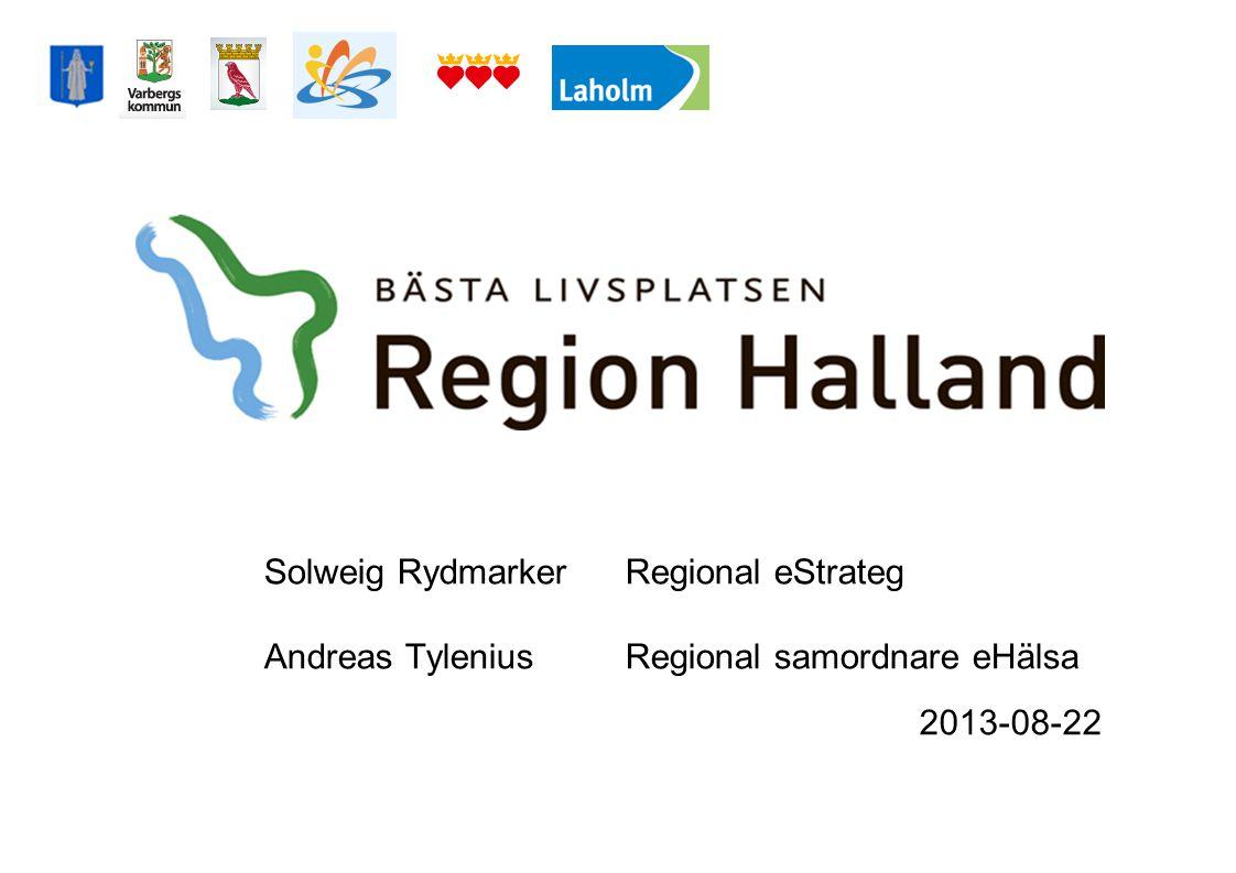 2013-08-22 Regionens e-hälsoarbete - Kort återblick på utvecklingen - Pågående projekt i kommunerna - Gemensam IS/IT- utveckling – Realisering av den digitala agendan