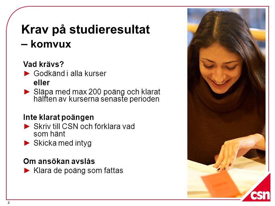 5 När prövar CSN studieresultat.
