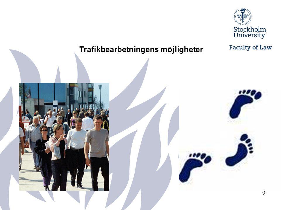 10 Med trafikbearbetning kan vi identifiera trafikmönster (sociogram) Individ