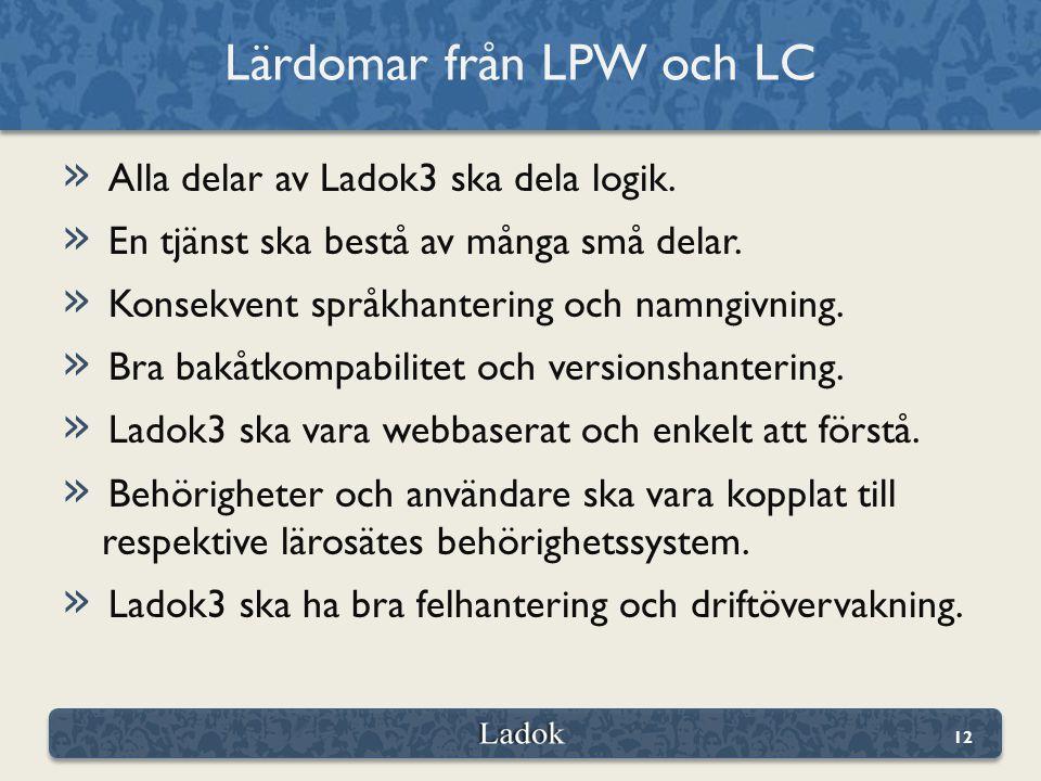 » Alla delar av Ladok3 ska dela logik. » En tjänst ska bestå av många små delar.