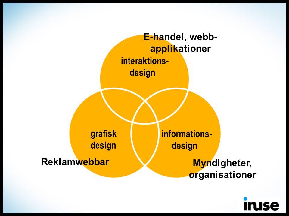 grafisk design informations- design interaktions- design Reklamwebbar Myndigheter, organisationer E-handel, webb- applikationer