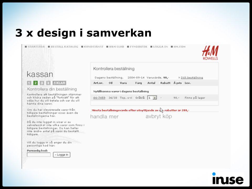 3 x design i samverkan