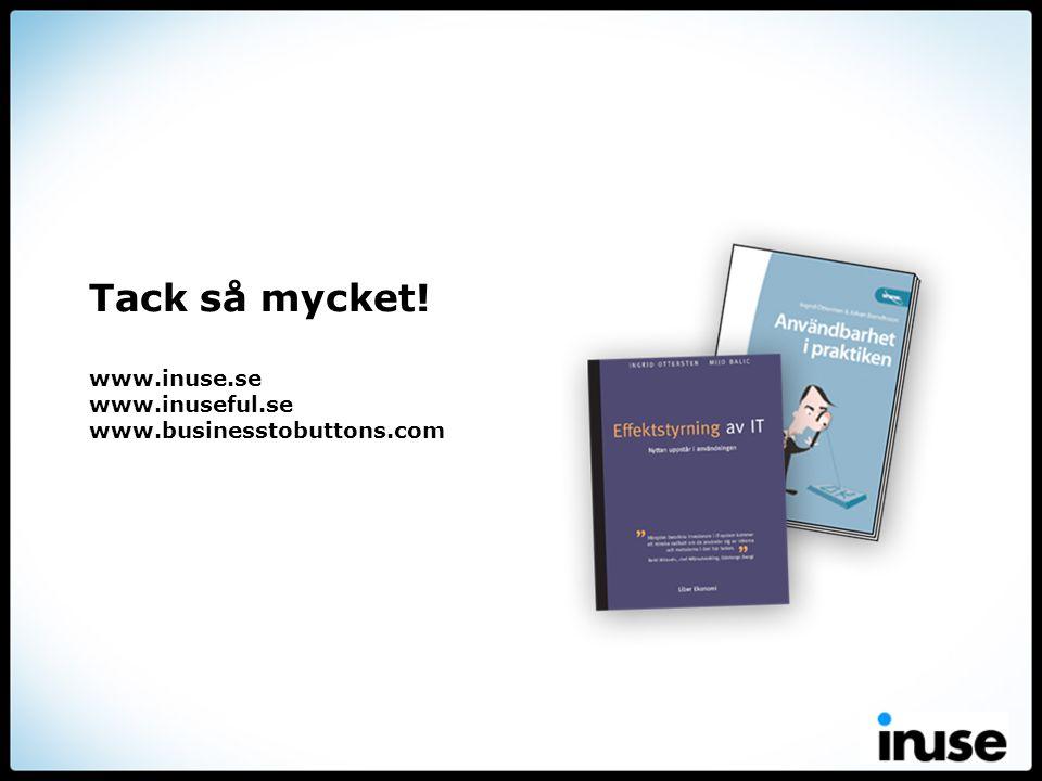 Tack så mycket! www.inuse.se www.inuseful.se www.businesstobuttons.com