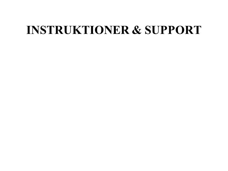 INSTRUKTIONER & SUPPORT