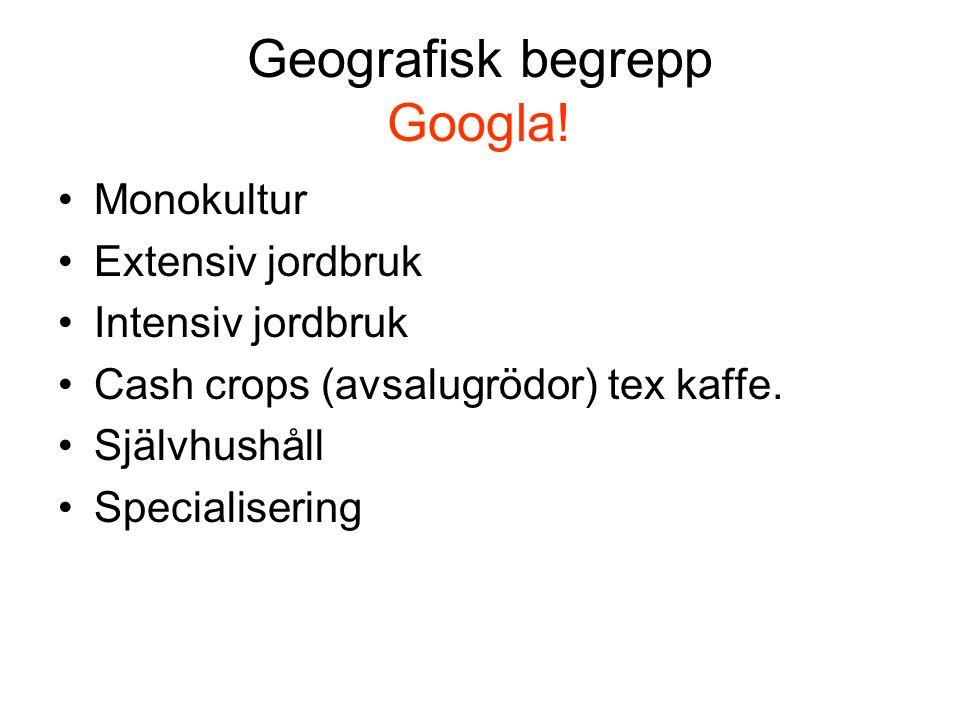 Geografisk begrepp Googla.