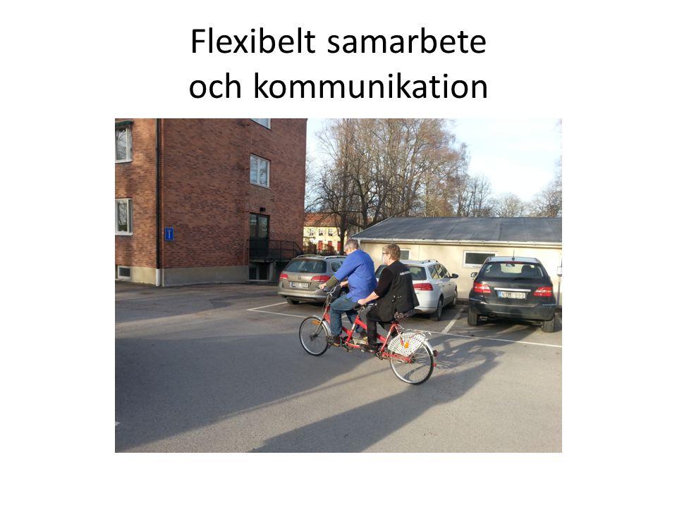 Flexibelt samarbete och kommunikation