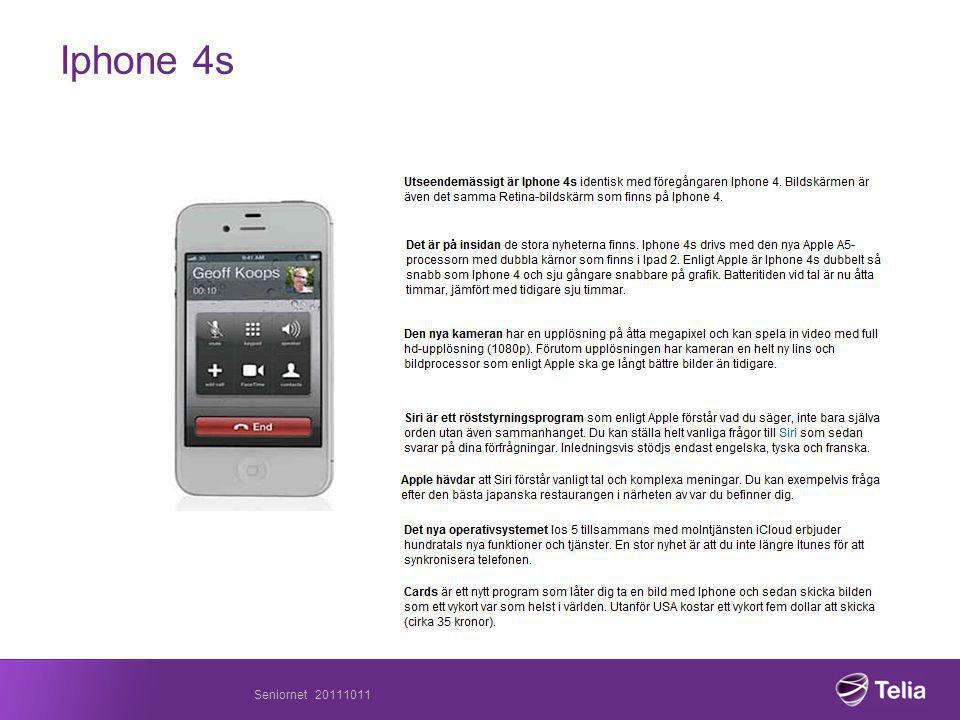 Seniornet 20111011 Iphone 4s