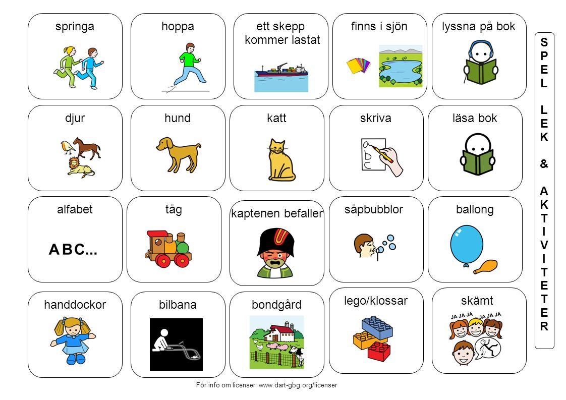 lyssna på bok skriva såpbubblor läsa bok bondgård kaptenen befaller katt finns i sjönett skepp kommer lastat hund tåg bilbana hoppa djur alfabet handd