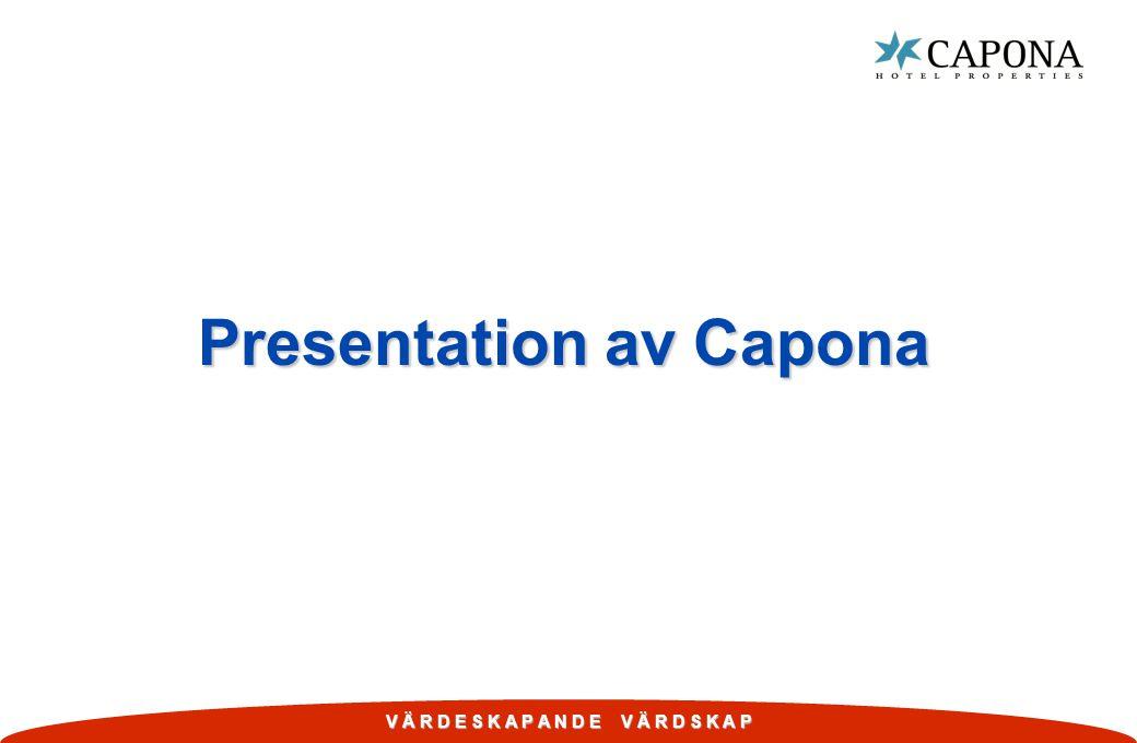 V Ä R D E S K A P A N D E V Ä R D S K A P Disposition w Kort om Capona.