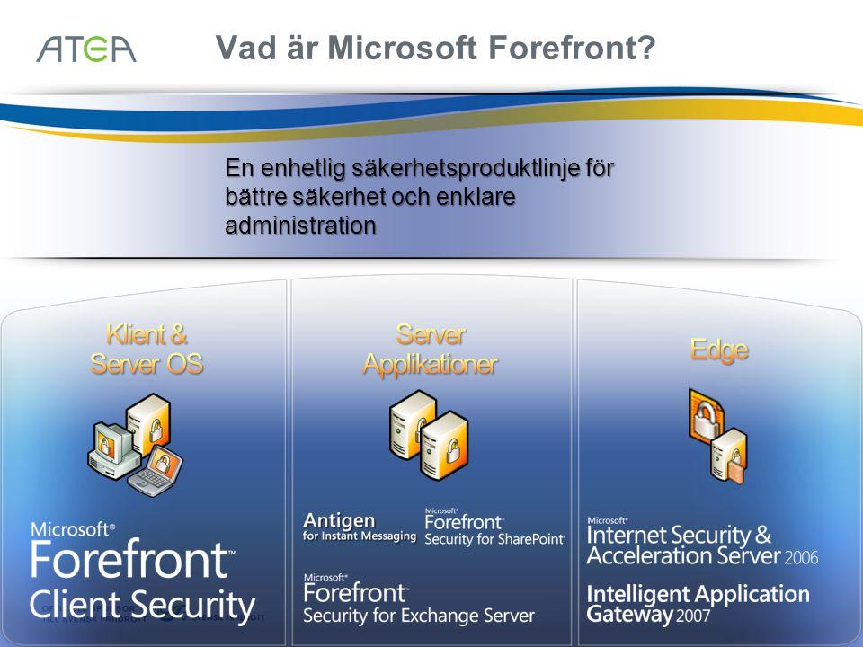 Vad är Microsoft Forefront.