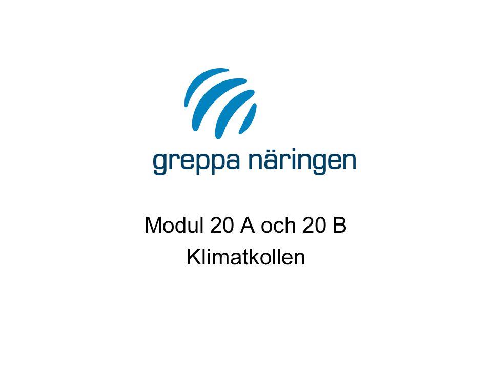 Modul 20 A och 20 B Klimatkollen