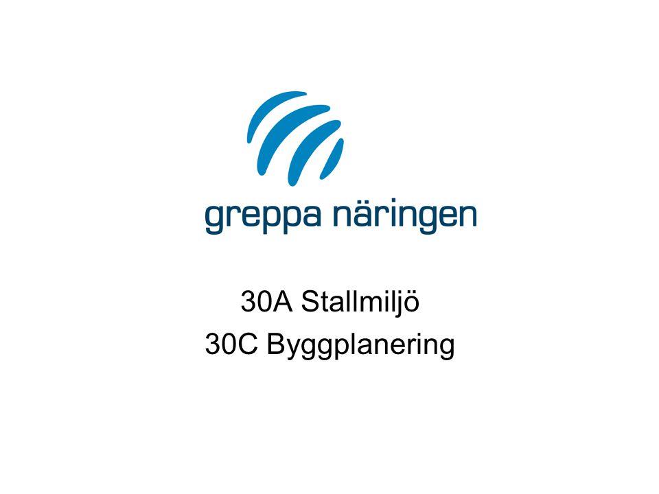 30A Stallmiljö 30C Byggplanering