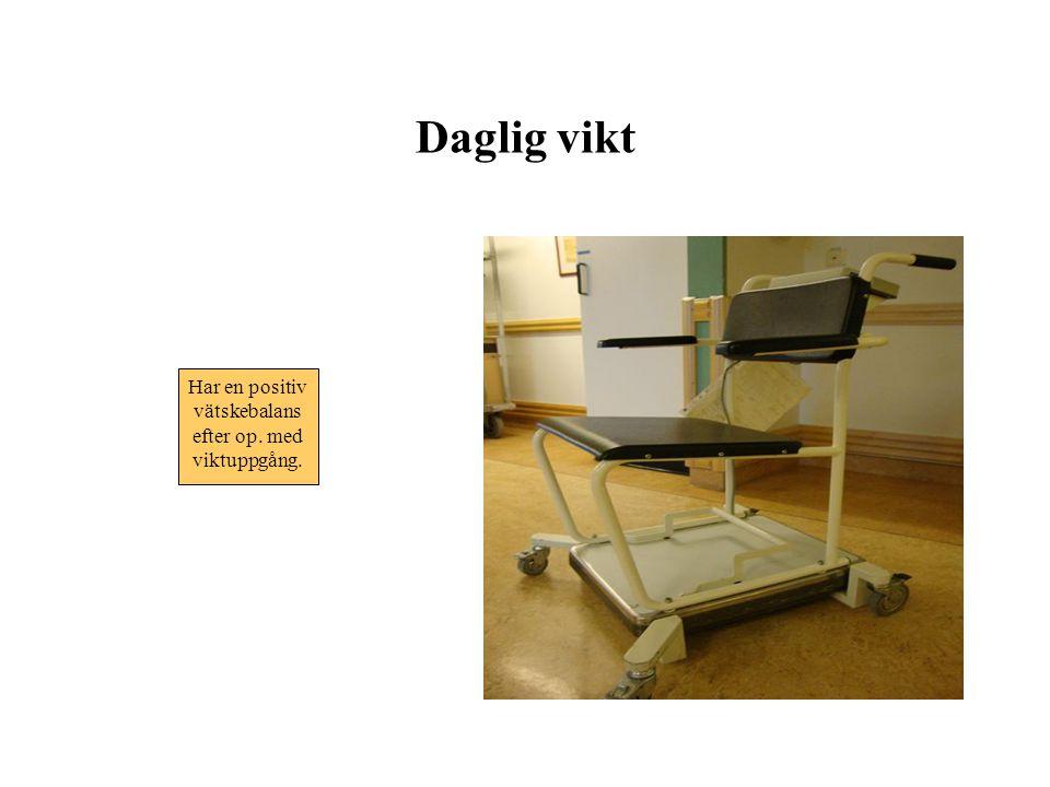 Komplikationer Njursvikt •Forcerad diures •Dialys: kontinuerlig Förstoppning •Obs.