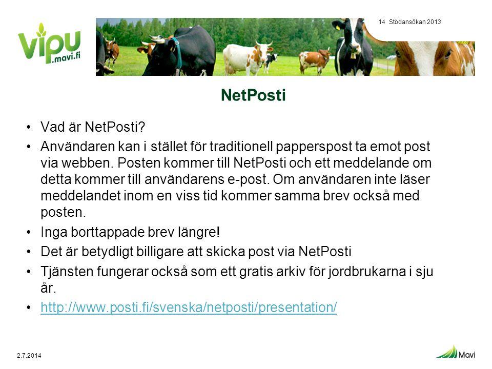 NetPosti •Vad är NetPosti? •Användaren kan i stället för traditionell papperspost ta emot post via webben. Posten kommer till NetPosti och ett meddela
