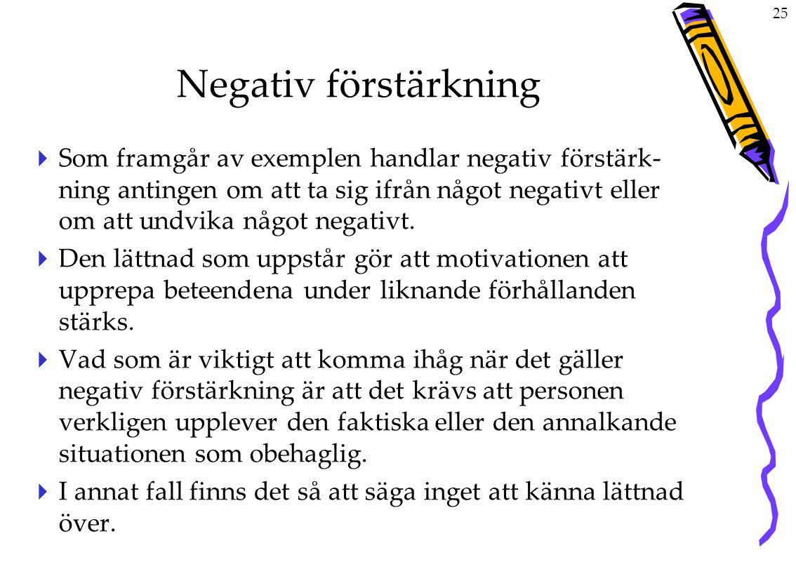 Negativ förstärkning