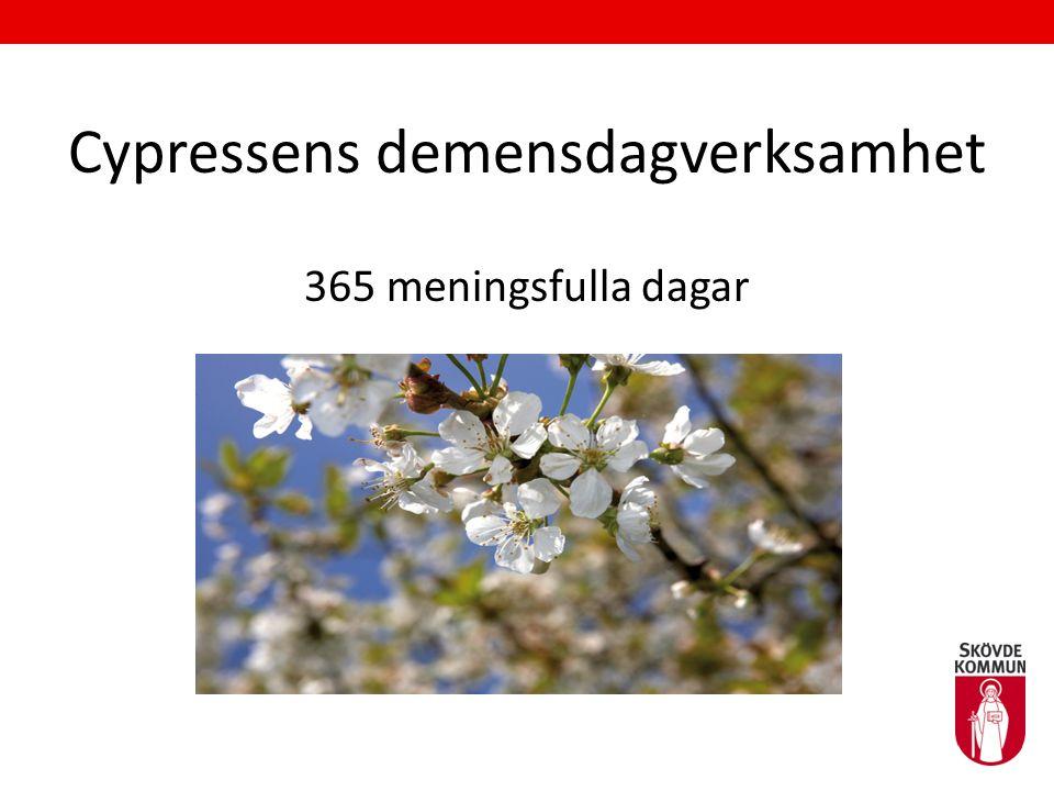 Cypressens demensdagverksamhet 365 meningsfulla dagar