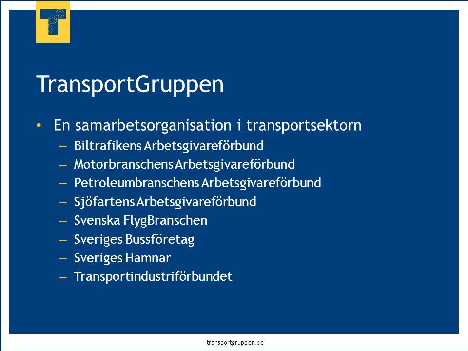 transportgruppen.se TransportGruppen • En samarbetsorganisation i transportsektorn – Biltrafikens Arbetsgivareförbund – Motorbranschens Arbetsgivarefö