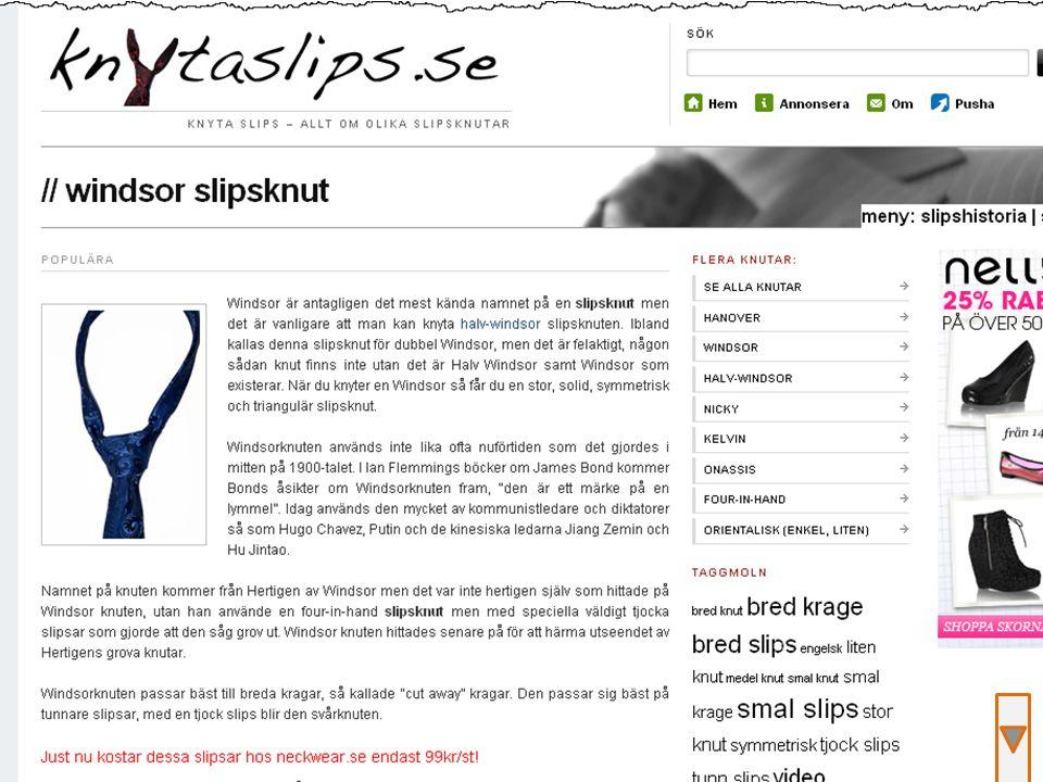 Exempel, knyta slips