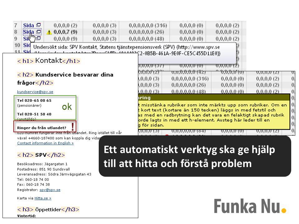 Ett automatiskt verktyg ska ge hjälp till att hitta och förstå problem