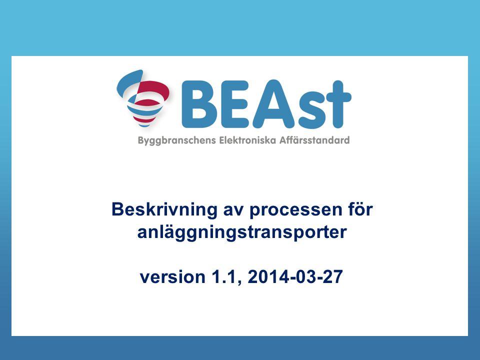 Beskrivning av processen för anläggningstransporter version 1.1, 2014-03-27
