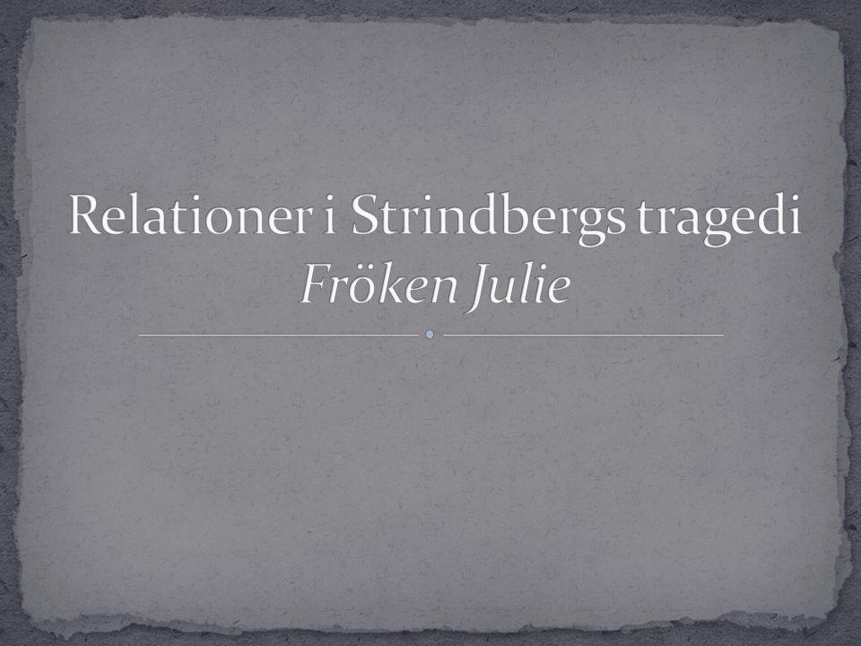  August Strindbergs tragedi Fröken Julie är en pjäs fylld av intressanta relationer som ändras under handlingens gång.