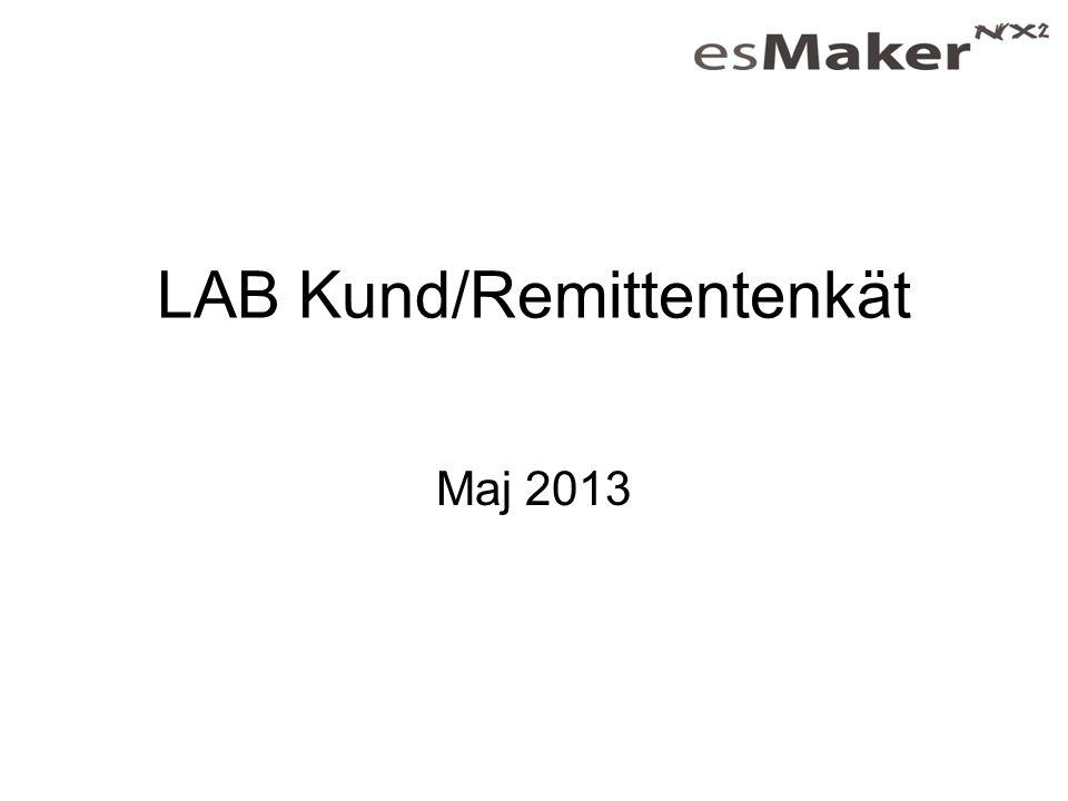 LAB Kund/Remittentenkät Maj 2013