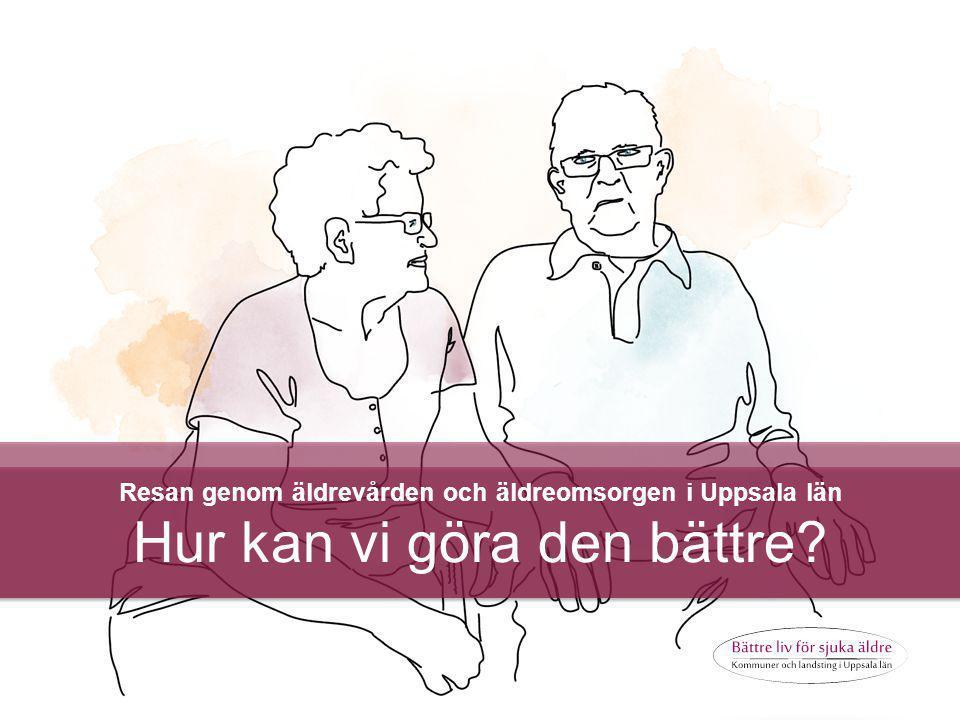 © 2013 ANTROP Resan genom äldrevården och äldreomsorgen i Uppsala län Hur kan vi göra den bättre