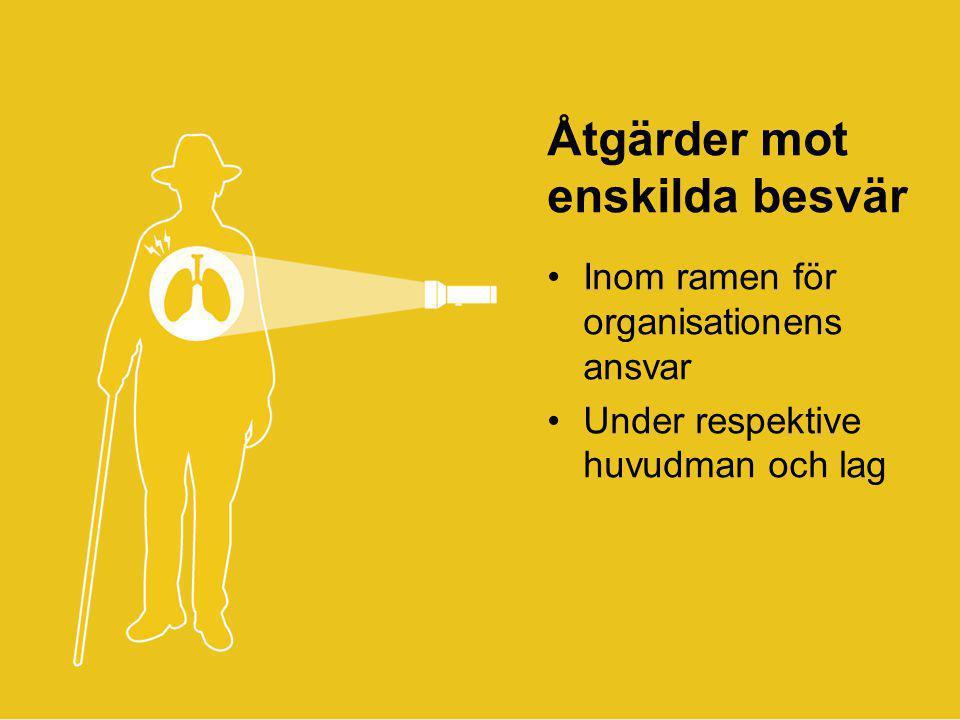 © 2013 ANTROP Åtgärder mot enskilda besvär •Inom ramen för organisationens ansvar •Under respektive huvudman och lag