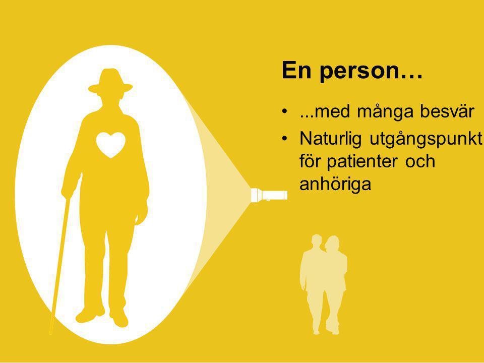 © 2013 ANTROP En person… •...med många besvär •Naturlig utgångspunkt för patienter och anhöriga