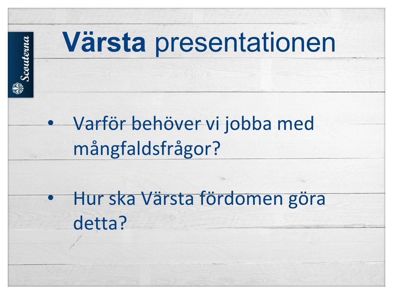 Värsta presentationen • Varför behöver vi jobba med mångfaldsfrågor? • Hur ska Värsta fördomen göra detta?