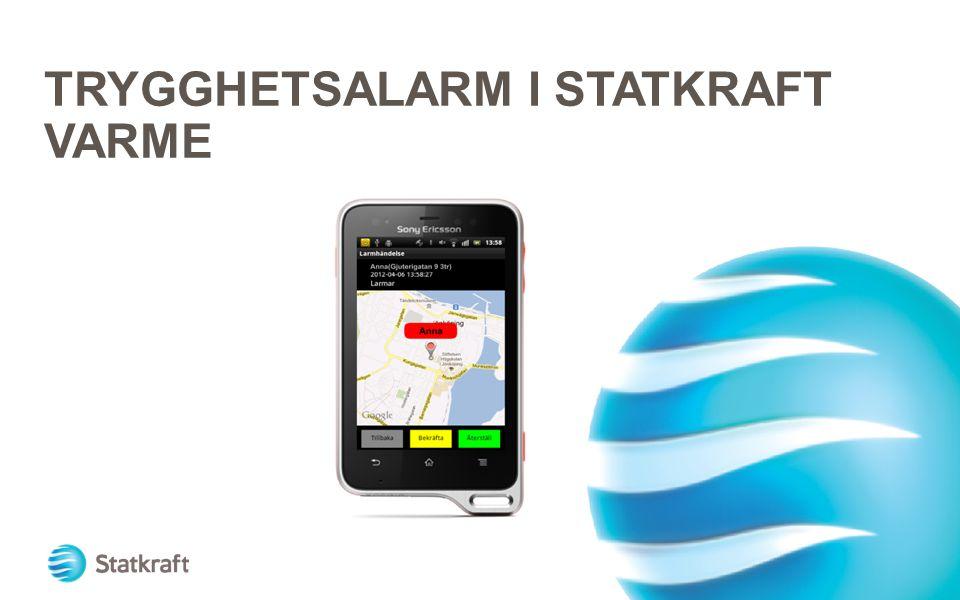 TRYGGHETSALARM I STATKRAFT VARME