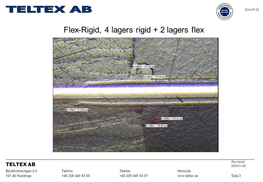 Flex-Rigid, 4 lagers rigid + 2 lagers flex Sida 3www.teltex.se+46 (0)8 449 83 01+46 (0)8 449 83 00141 46 Huddinge HemsidaTelefaxTelefonBjörkholmsvägen