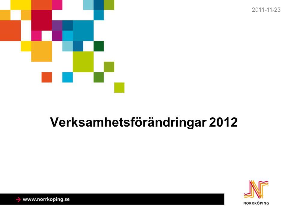 Verksamhetsförändringar 2012 2011-11-23
