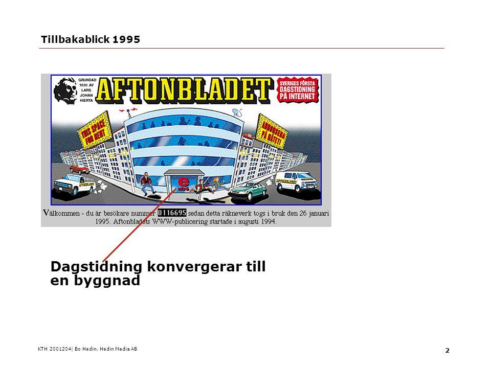 KTH 2001204| Bo Hedin, Hedin Media AB 3 Tillbakablick 1995 …eller en centralredaktion