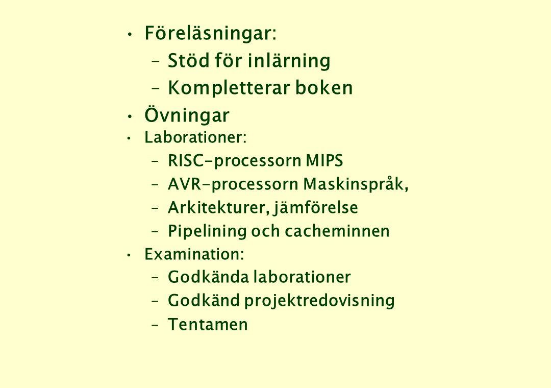 Datorsystem – en klassifikation •Superdatorer – när räknekapaciteten är viktigare än kostnaden •Persondatorer – PC, arbetsstationer m.m.