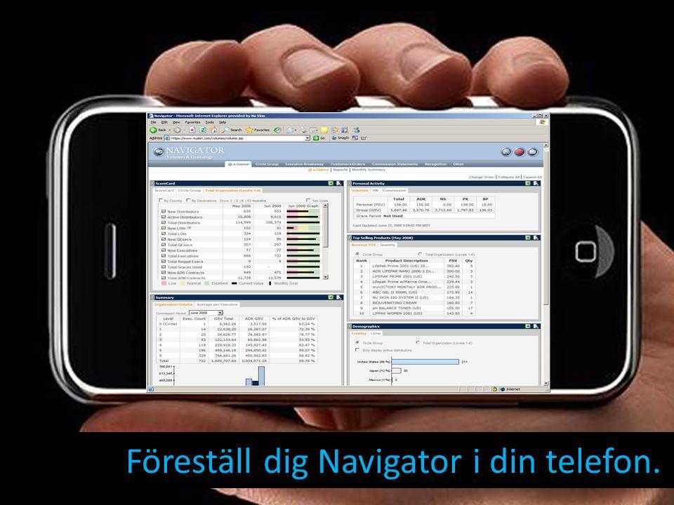 Föreställ dig Navigator i din telefon.